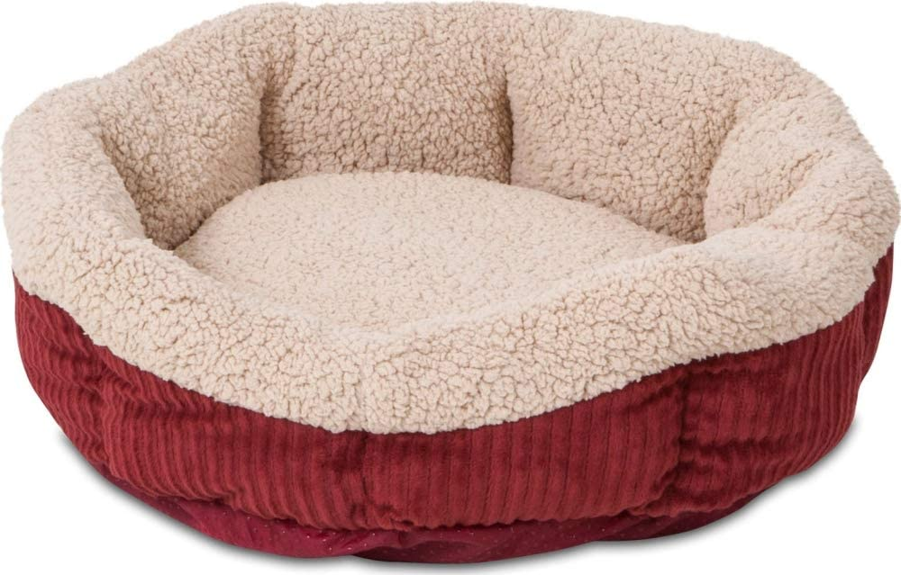 Aspen Pet Self-Warming Corduroy Pet Bed