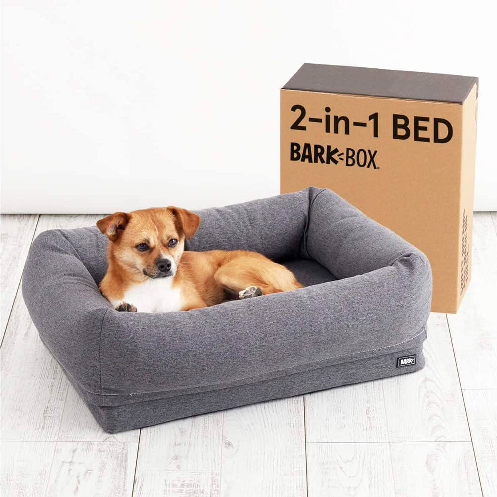 BarkBox Orthopedic 2-in-1 Bolster Dog Bed