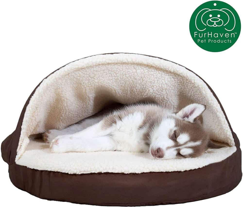 FurHaven Snuggery Burrow Orthopedic Dog Bed