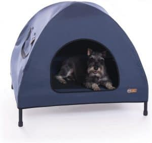 K H Indoor  Outdoor Elevated Pet Bed  Shelter