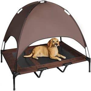 "Niubya 48"" XLarge Elevated Dog Cot with Canopy"