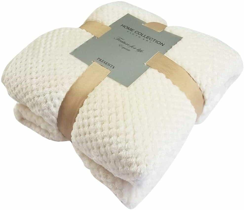 BLEVET Super Soft Coral Fleece Puppy Blanket