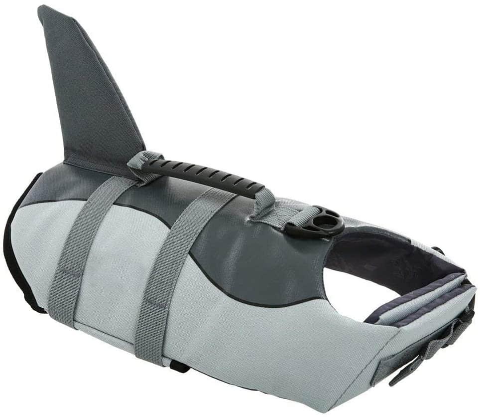 Queenmore Ripstop Life Jacket Fish Style Floatation Vest Grey Shark