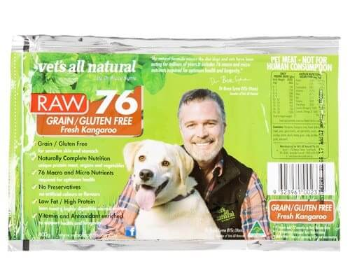 Vet's All Natural Raw 76 Grain-Free Kangaroo