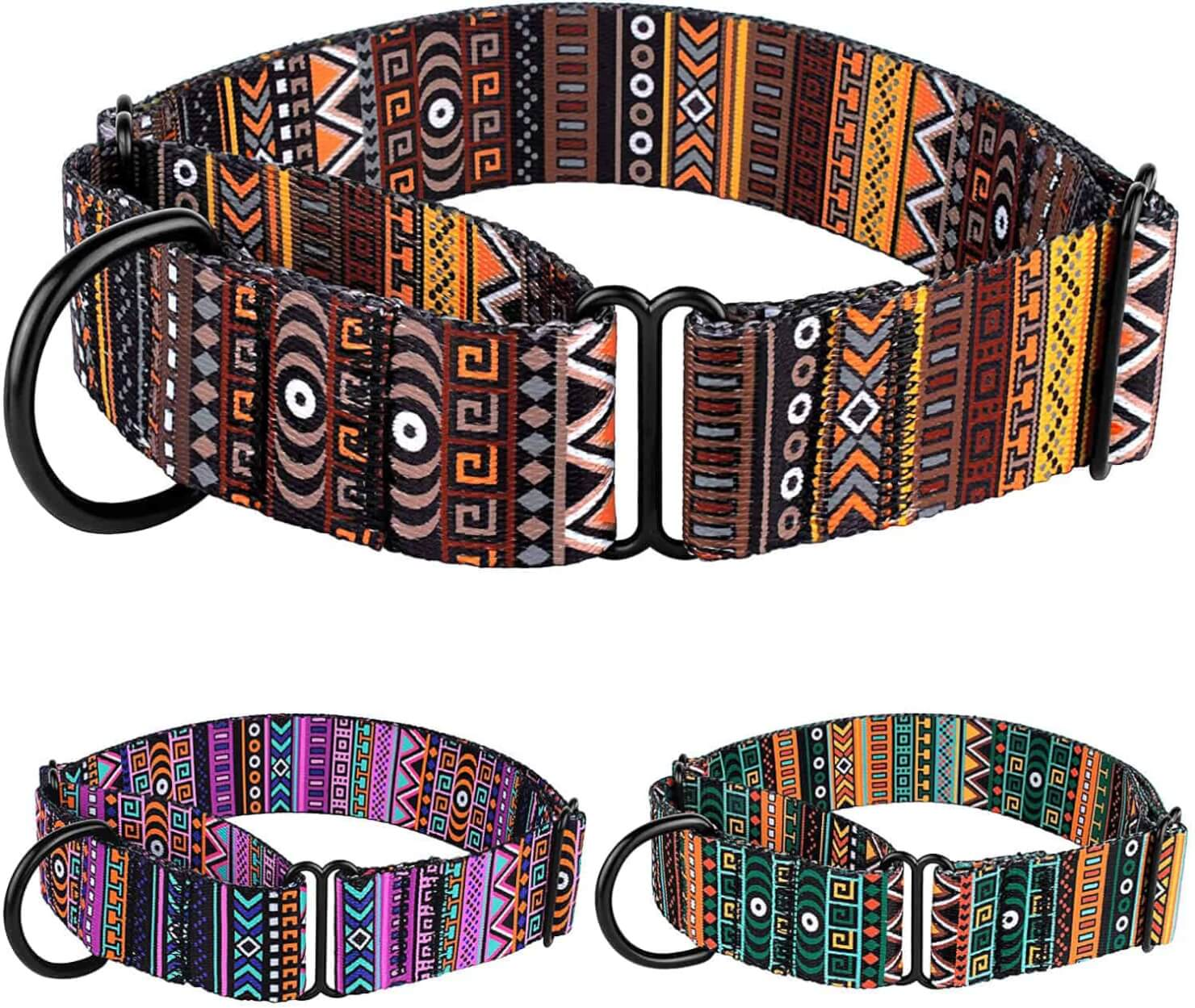 CollarDirect Martingale Collars for Dogs with Tribal Patterns