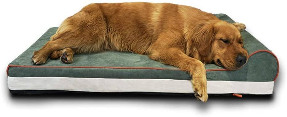LaiFug Memory Foam Dog Bed with Headrest