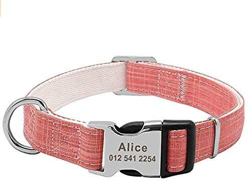 PAWID Personalised Laser Engraved Bamboo Fibre Dog Collar